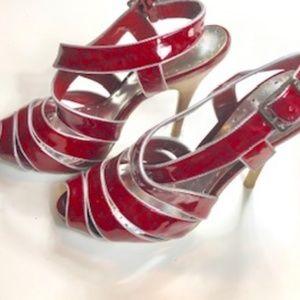 BCBGirls Red Strappy Heels size 8 1/2